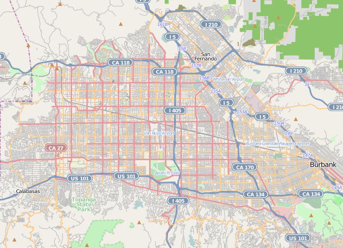Location_map_San_Fernando_Valley