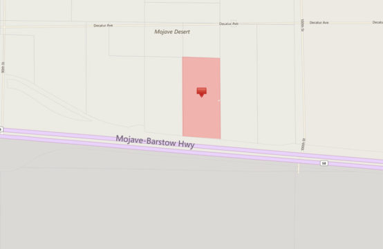 On Hwy 58 & 2 Mile W. California City Blvd. – APN23405318